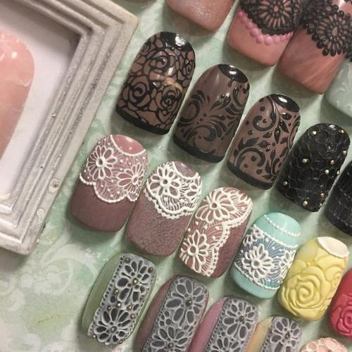 Гель пластилин на ногтях
